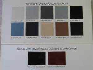 Cadillac Paint Colors Official Cadillac Color Names And Paint Codes Page 3