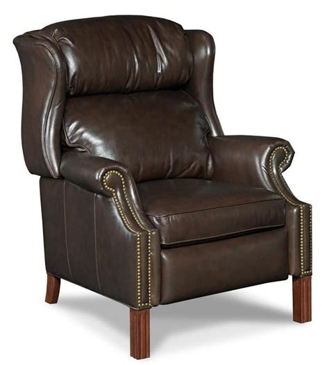 high leg wingback recliner high leg wing recliner by hooker furniture wolf and