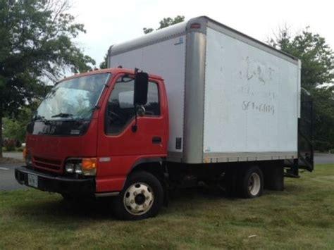 find used isuzu diesel npr 12ft box truck automatic a c