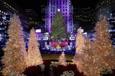 2014 Rockefeller Center Christmas Tree Lighting Ceremony Lighting Of The Tree In Rockefeller Center 2014
