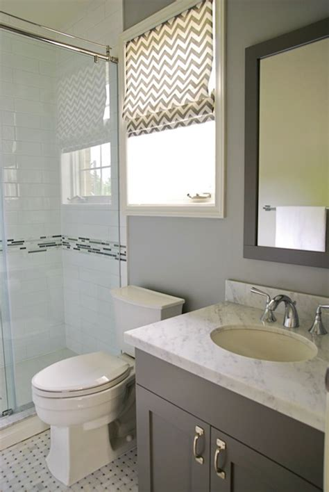 Chevron Bathroom Ideas by Gray Chevron Roman Shade Contemporary Bathroom
