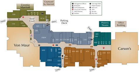 park mall map mall directory laurel park place
