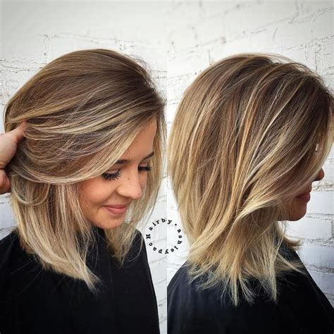 balayage on medium length hair medium hair with blonde balayage hifow quick easy
