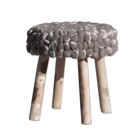 Chunky Stool by Wool Chunky Bobble Stool By Cowshed Interiors