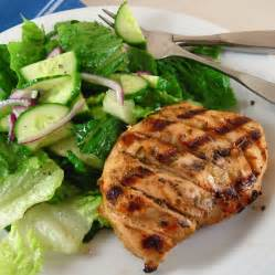 rosemary mustard grilled chicken breasts in the kitchen