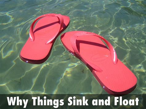 Why Things Sink why things sink and float by mike timms