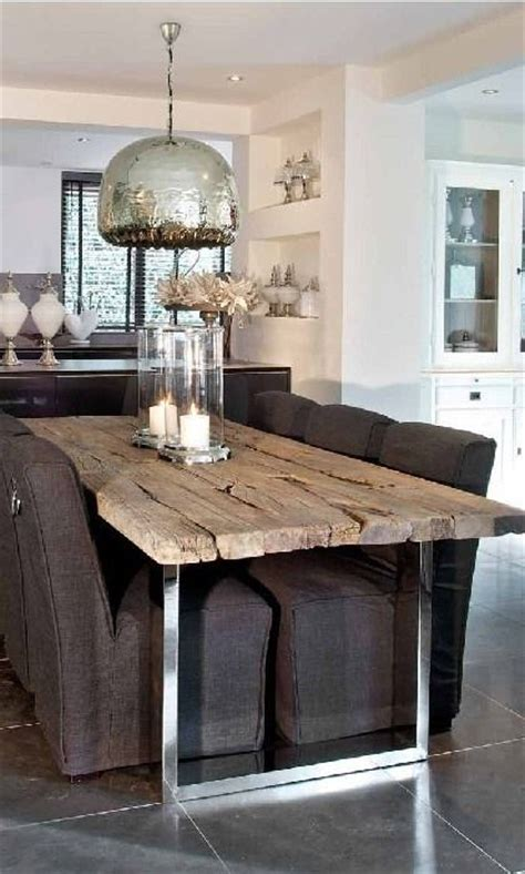Modern Rustic Dining Room Table Rustic But Modern Dining Area With Reclaimed Wood Table