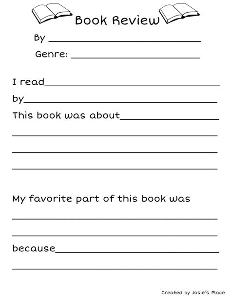 book report review free book review for tpt free lessons