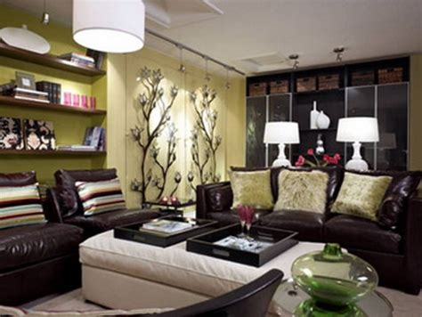 Living Room With Brown Sofas Brown Sofa Decorating Living Room Ideas