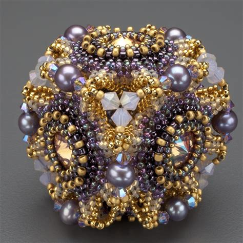 bead for quot geo floral quot beaded bead kit gold purple