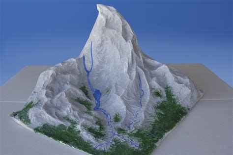 how to make a mountain out of paper mache with pictures