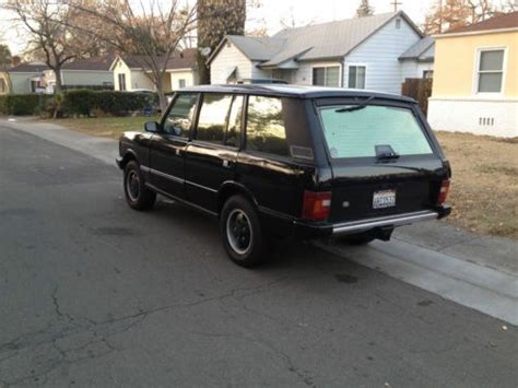 sell used 1993 land rover range rover lwb mosswood green 157k air suspension calif car in san sell used 1993 range rover classic lwb in carmichael california united states for us 3 400 00
