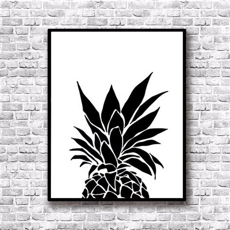 printable posters black and white modern nordic black white minimalist pineapple quotes art