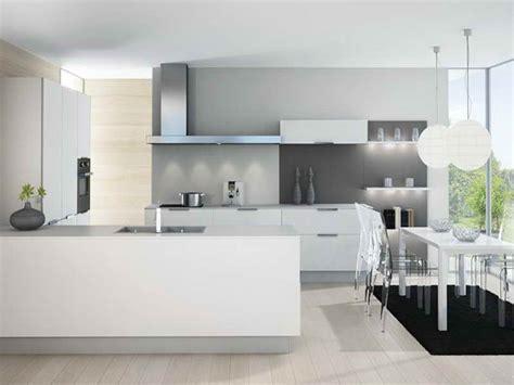 Cuisine Moderne Et Blanc by Cuisine Moderne Gris Et Blanc Meuble Cuisine Discount