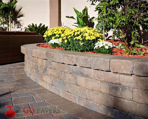 Paver Planters by Get The Best Pavers Planters Steps Installation Go Pavers