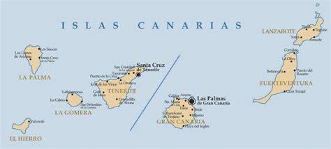 layout map español islas canarias map