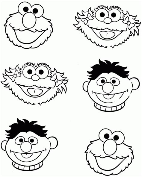printable elmo mask sesame street face coloring pages coloring home