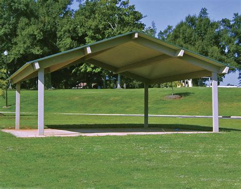 Metall Pavillon by All Steel Single Roof Rectangle Pavilions