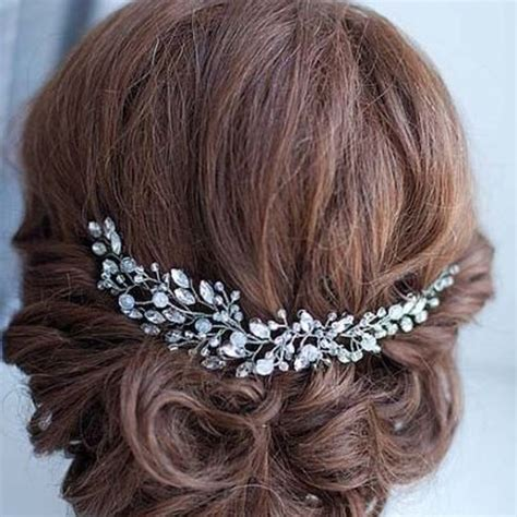 Hair Accessories Handmade - handmade bridal hair flower rhinestone hair