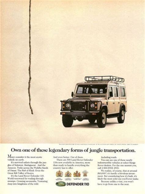 11 Of The Best Land Rover Print Ads Funrover Land