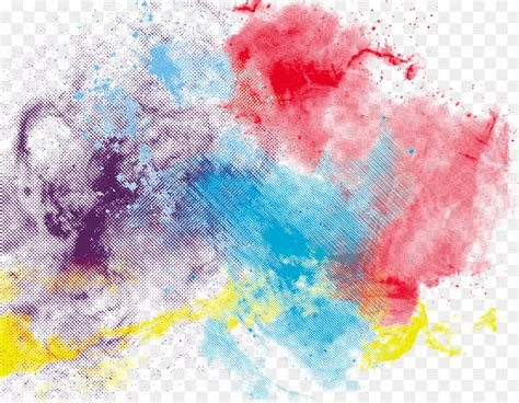watercolor painting  colorful ink