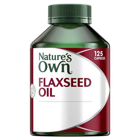 nature s own flaxseed 125 capsules chemist warehouse