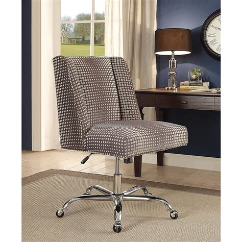 linon home decor linon home decor draper office chair gray dot