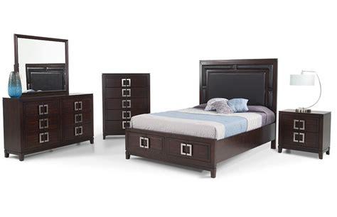 contemporary bedroom set  storage galore king