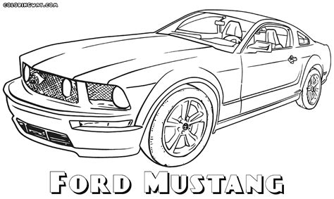 coloring pictures mustang cars ford mustang coloring pages coloring pages to