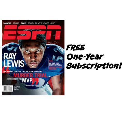Espn Gift Card - free one year subscription to espn magazine great gift for sports lovers or choose