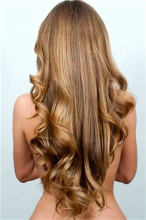 long bronde hair with v shape women hairstyles