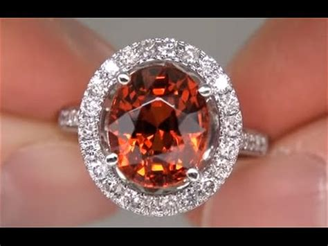 Hq Orange Garnet spessartite garnet ring mandarin orange