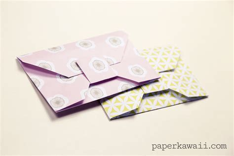 printable origami envelope instructions traditional origami envelope video tutorial paper kawaii