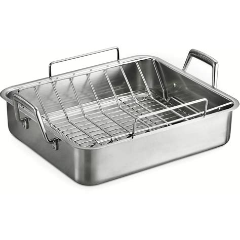 Roasting Pan With Wire Rack by Oster Easy Roaster And Wire Rack Carbon Steel Walmart