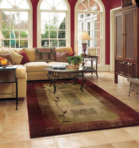 livingroom rugs beautiful floral burgundy cream rug for living room all