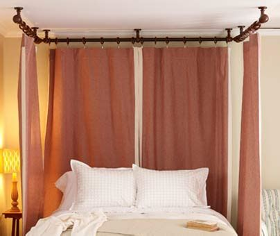 ceiling mount curtain rods canopy bed home dzine bedrooms add romance to a bedroom