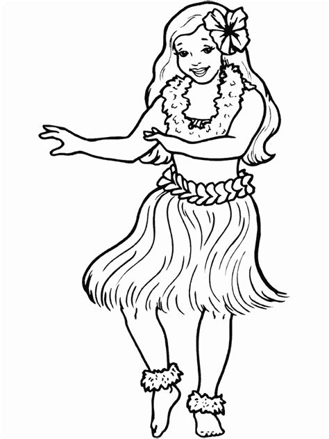 girl coloring page free hula girl coloring pages free holidays coloring pages of