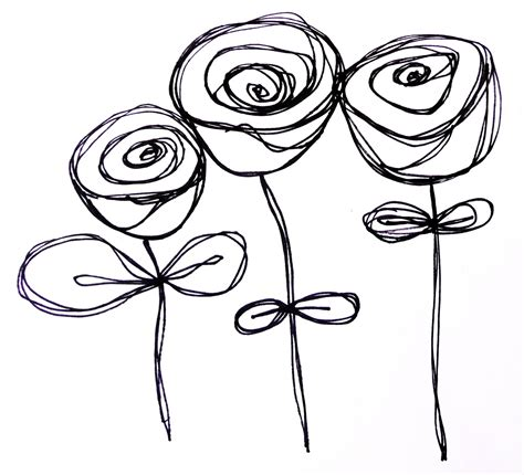 how to draw doodle roses by erin leigh doodles continued