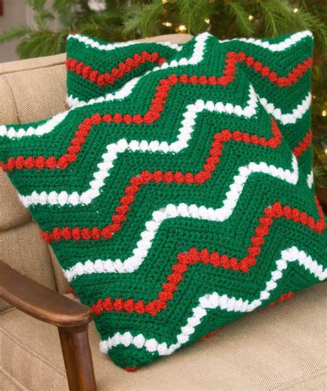 christmas tree duo crochet pattern red heart christmas ripple pillows crochet pattern red heart