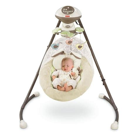 fisher price swing and cradle fisher price my little snugabunny cradle swing dealshout