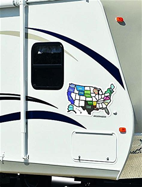 magnetic usa map for rv rv state sticker travel map 13 quot x 17 quot usa states