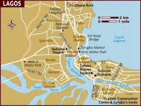 Lagos Africa Map by Map Of Lagos