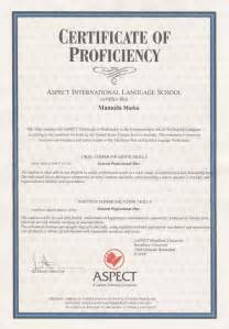 Certification Letter English Proficiency in non english speaking countries proficiency in english is considered