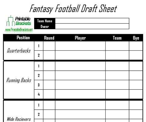 Football Draft Spreadsheet Template by Football Schedule Template Invitation Template