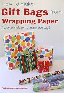 Make Gift Bags From Wrapping Paper - make a gift bag from wrapping paper the make your own zone