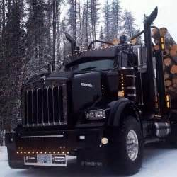 Logging Truck Tires For Sale Blacked Out Kw Log Truck Custom Big Rigs