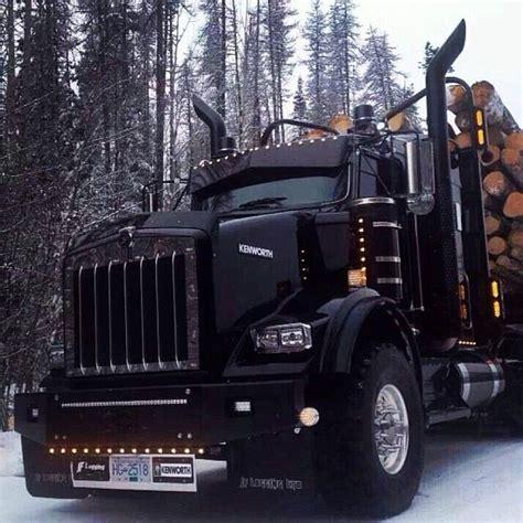 film semi canada blacked out kw log truck custom big rigs pinterest