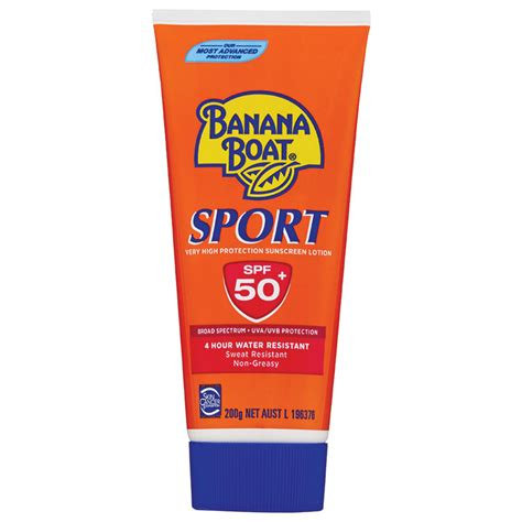 banana boat sensitive ingredients banana boat spf 50 sport 200g tube chemist warehouse