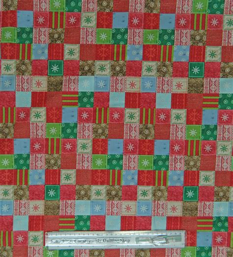 Country Patchwork - country patchwork quilting fabric allover 50x55cm