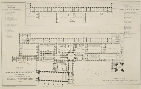 Palace Of Westminster Floor Plan by Plan Of The Houses Of Parliament And Offices On The